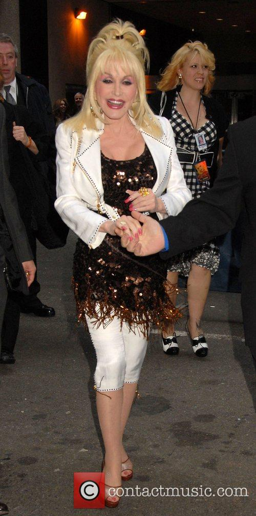 Dolly Parton on her way to play at...