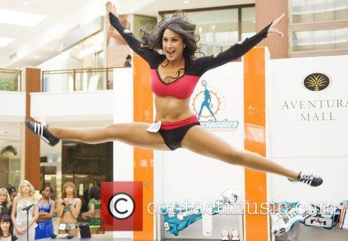 Carolina Juramillo final auditions for the Miami Dolphins...