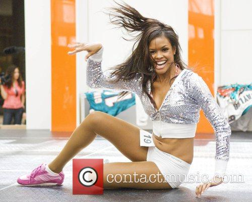 Johanna Torres final auditions for the Miami Dolphins...