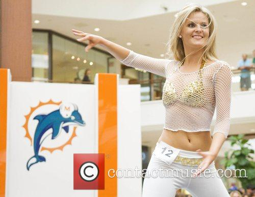 Megan Danforth final auditions for the Miami Dolphins...