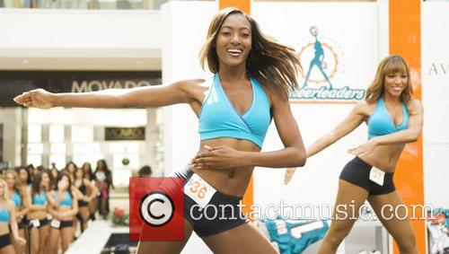 Final auditions for the Miami Dolphins Cheerleaders at...