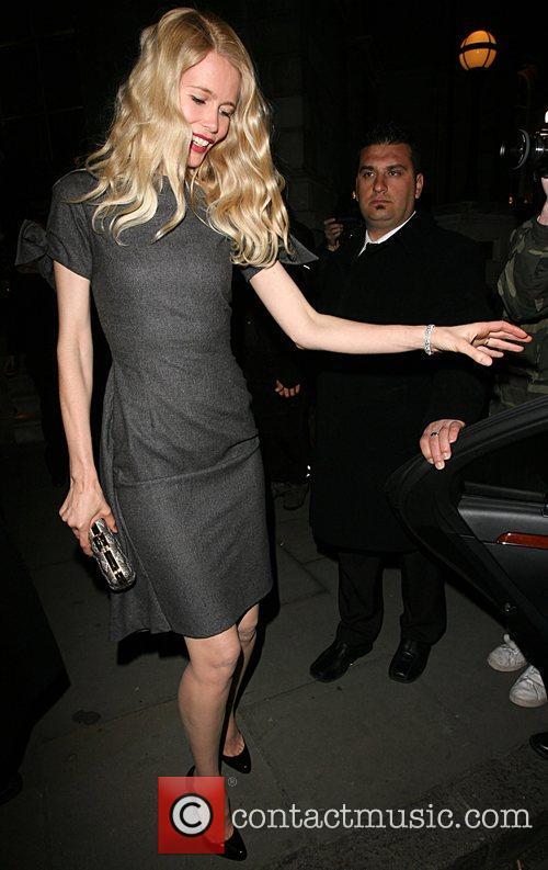 Claudia Schiffer leaving the Dom Perignon party held...