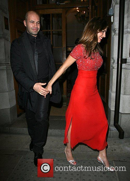 Kelly Brook and Billy Zane leaving the Dom...