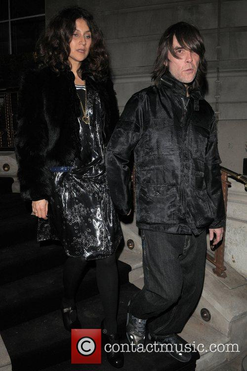 Ian Brown at Dom Perignon party held at...