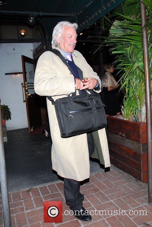 Donald Sutherland  leaving Madeo restaurant Los Angeles, California