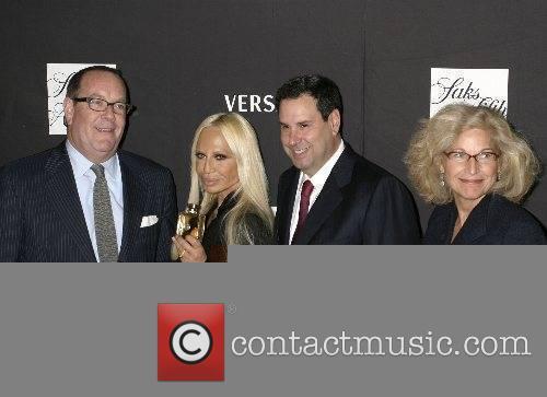Steve Sadore, Donatella Versace, Ron Frasch and Suzy