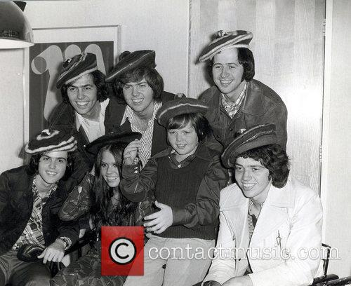 Shown in front (from left) Donny Osmond, Marie...