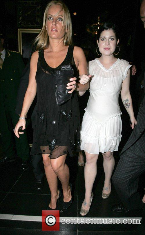 Davina Taylor and Kelly Osbourne at the Dorchester...