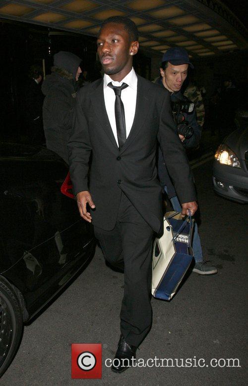 Shaun Wright-Phillips leaving the Dorchester Hotel.