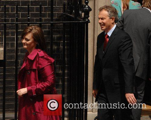 Tony and Cherie Blair leave 10 Downing Street...