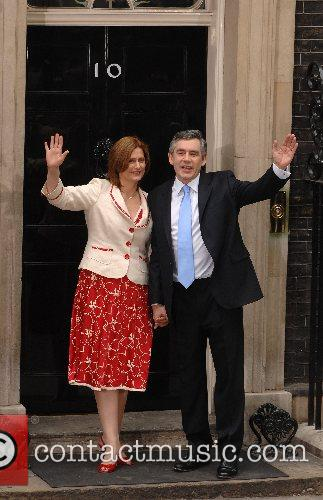 The new Prime Minister Gordon Brown and his...
