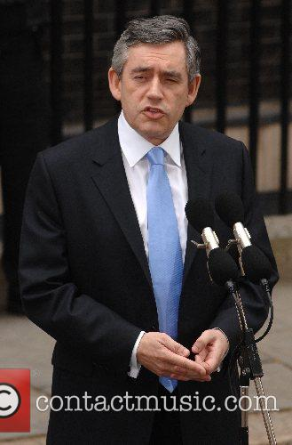 The new Prime Minister Gordon Brown makes a...