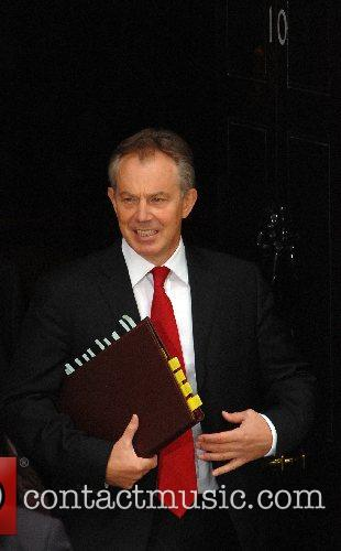 Tony Blair leaves 10 Downing Street for Prime...