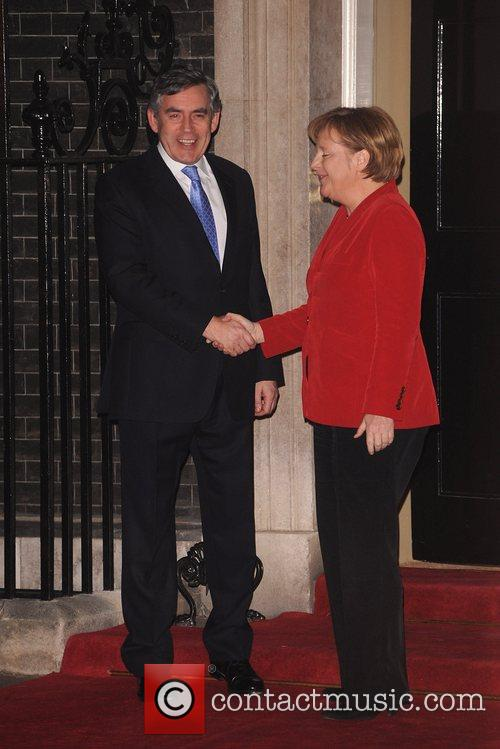 UK Prime Minister Gordon Brown and German Chancellor...
