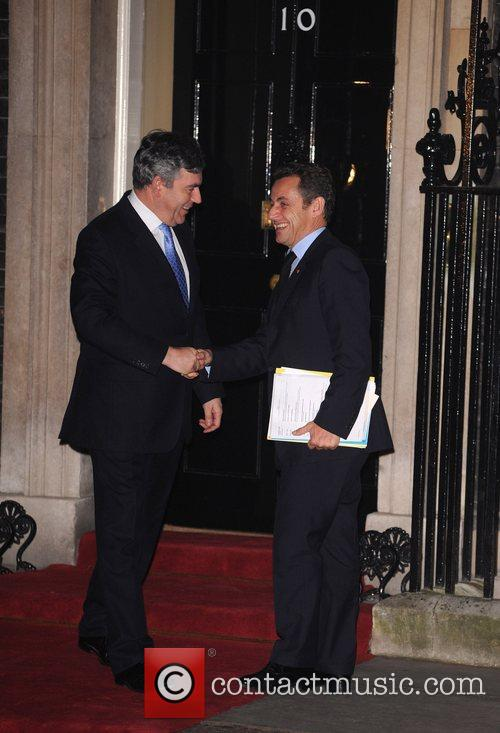 French Prime Minister Nicolas Sarkozy meets Prime Minister...