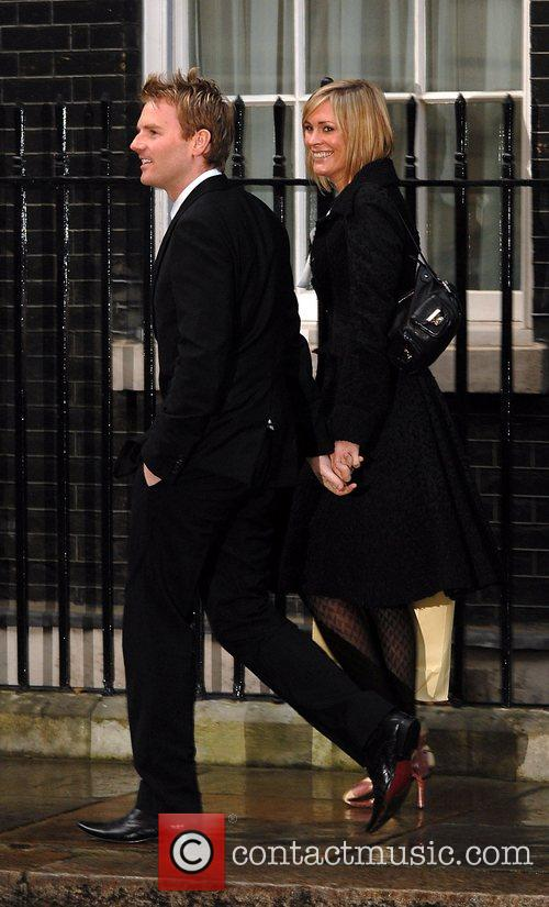Arriving at the Downing Street Annual Christmas Party.