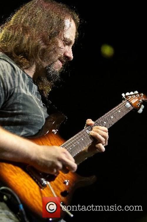 John Petrucci of Dream Theatre performing live at...