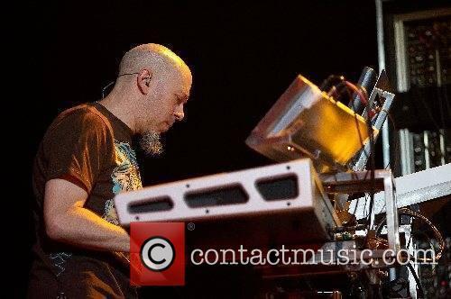 Jordan Rudess of Dream Theatre performing live at...
