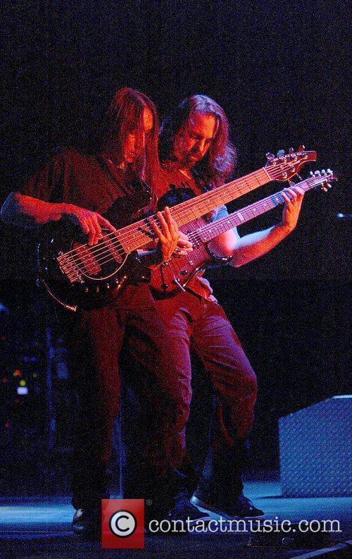 John Myung and John Petrucci Dream Theater performing...