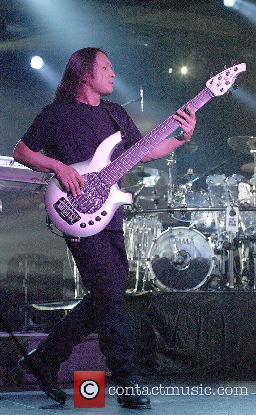 John Myung Dream Theater performing live in concert...