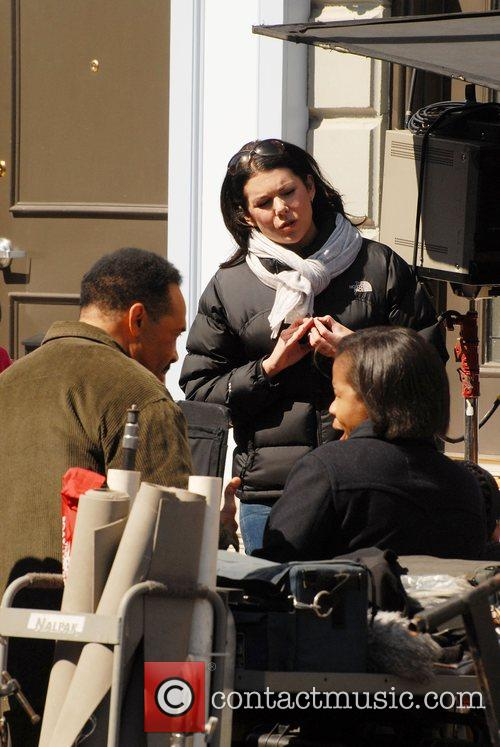 Lauren Graham on the film set of 'The...