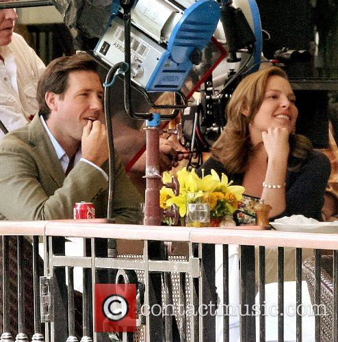 Edward Burns and Katherine Heigl filming in Central...