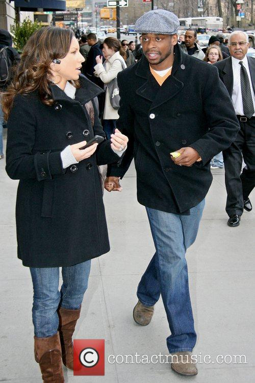 Psych actor Dule Hill out and about in...