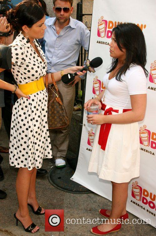 Rachel Ray being interview by Access Hollywood Rachel...
