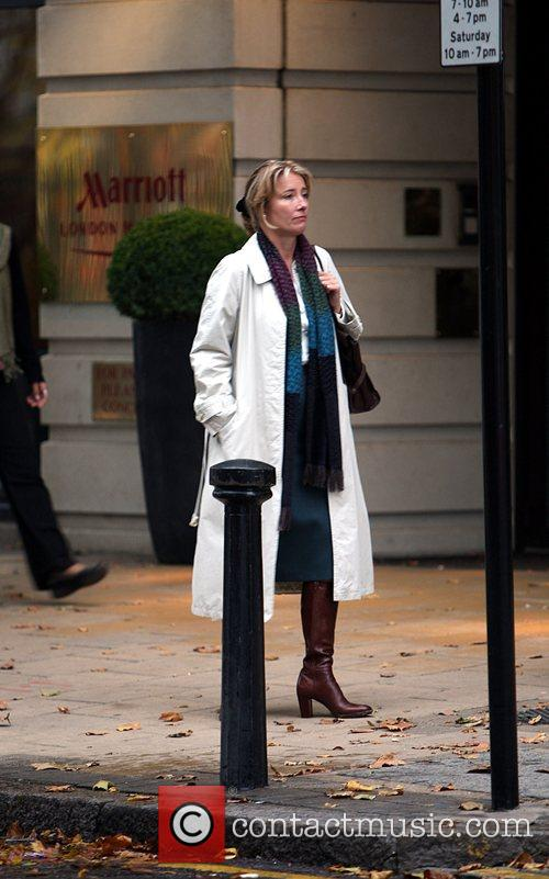 Emma Thompson filming her new movie 'Last Chance...