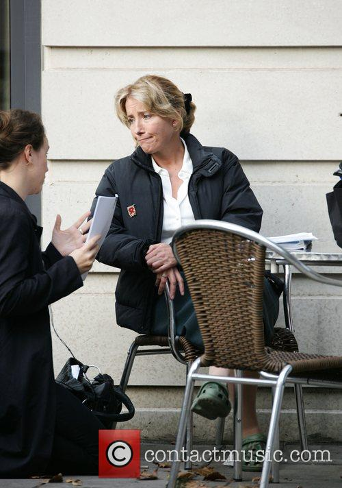 Emma Thompson on the set of her new...