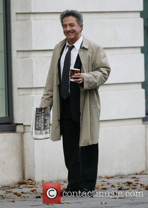 Dustin Hoffman filming his new movie 'Last Chance...