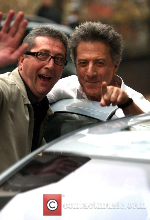 Dustin Hoffman and his driver on the set...