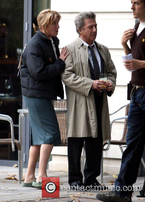 Emma Thompson and Dustin Hoffman on the set...