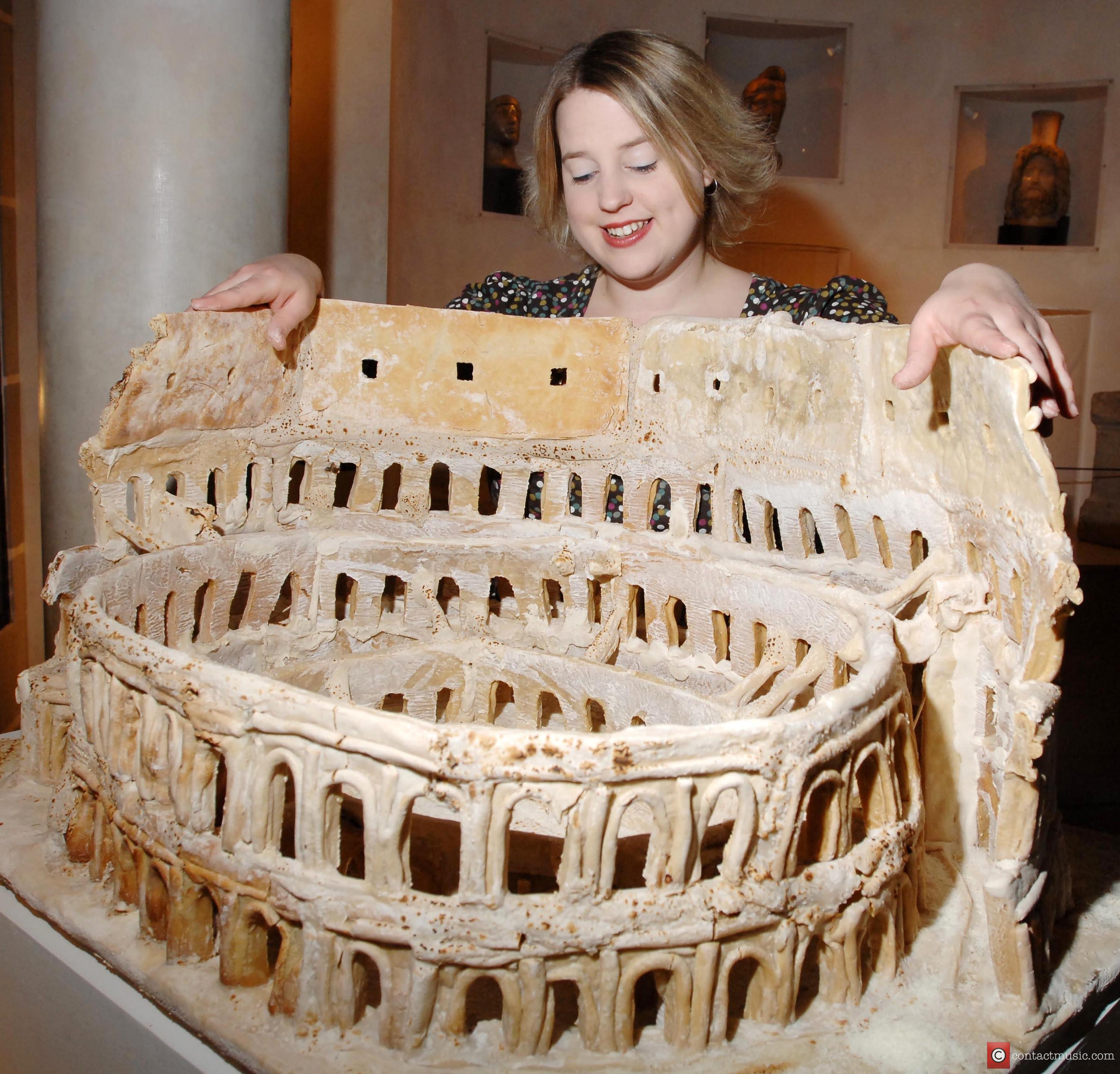 A sculpture of The Coliseum Food artist Prudence...