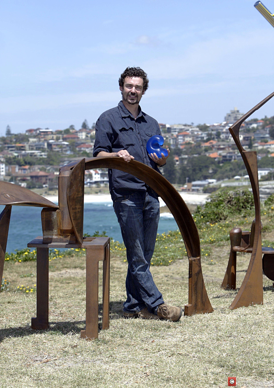 David Horton With His Winning Sculpture 'yesternight: Work In Progress' 1