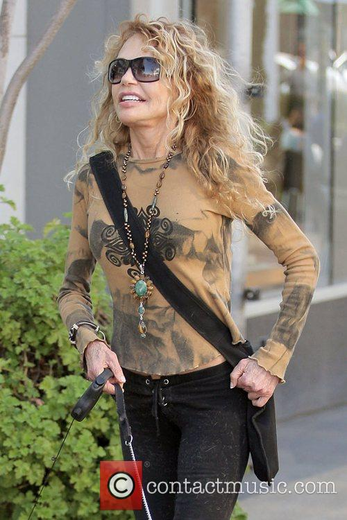 American film and television actress Dyan Cannon leaves...