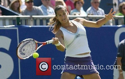 Amelie Mauresmo wins her second round match at...