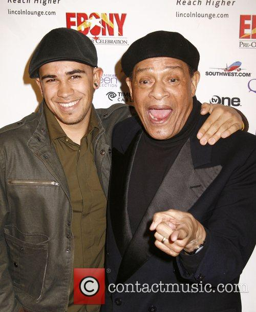 Al Jarreau with son Ryan Jarreau Ebony Pre-Oscar...