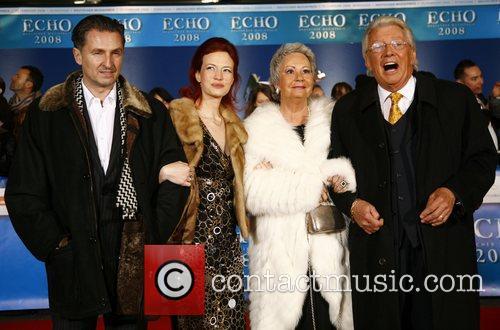 Dieter Thomas Heck, wife Ragnhild, children Echo Deutscher...