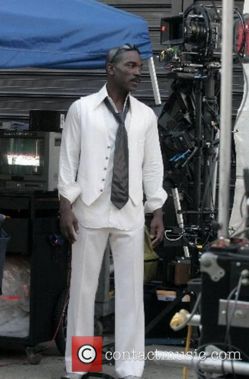 Eddie Murphy's body double on the set of...