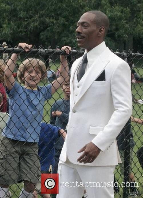 Eddie Murphy on the set of his new...