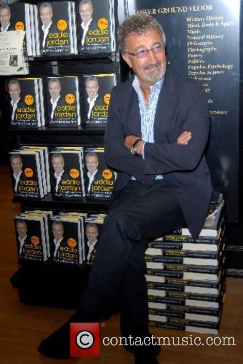 Eddie Jordan signs copies of his new autobiography...