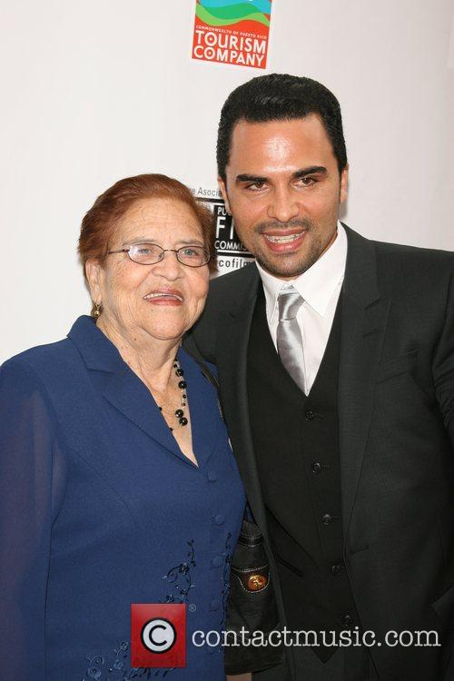 Manny Perez and his mother New York Premiere...