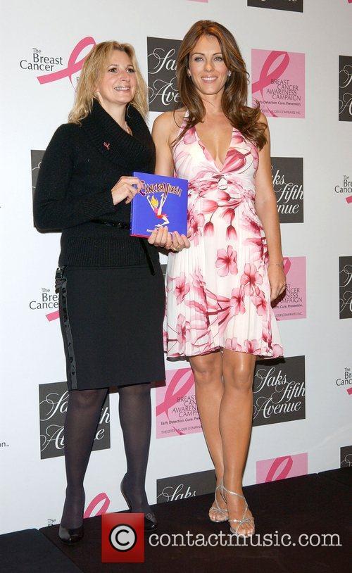 Marisa Acocella and Elizabeth Hurley at Saks Fifth...