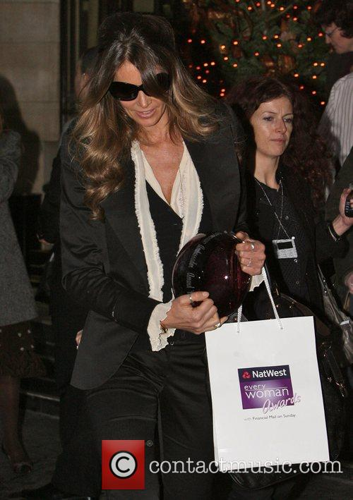 Leaving The Dorchester Hotel after attending The NatWest...