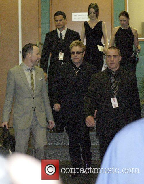 Elton John, David Furnish and Sir Elton John 5