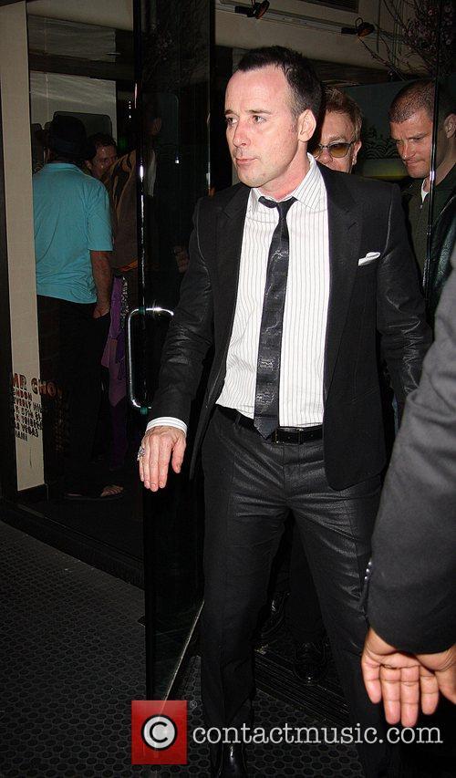 David Furnish  arrives at Mr Chow restaurant...