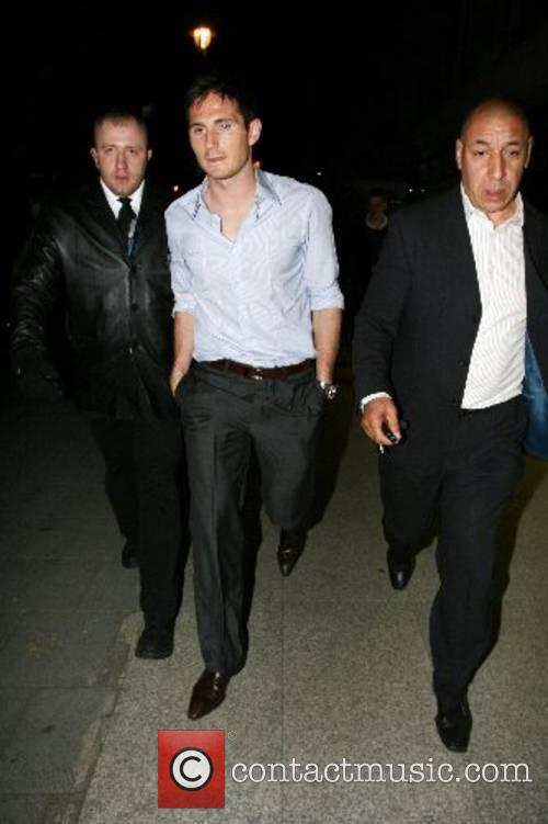 Frank Lampard leaving Embassy Night club London, England