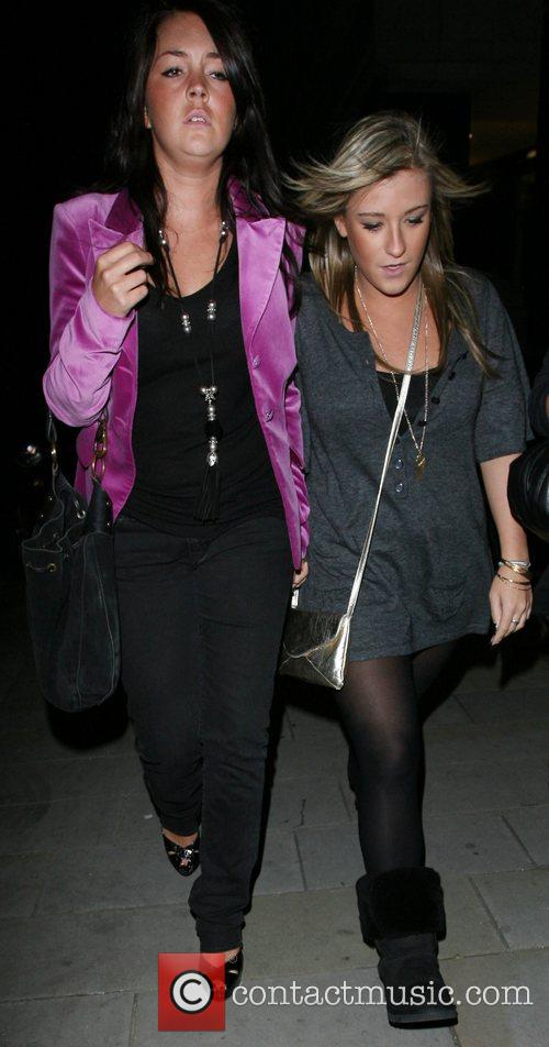 Lacey Turner and a friend leaving the Embassy...