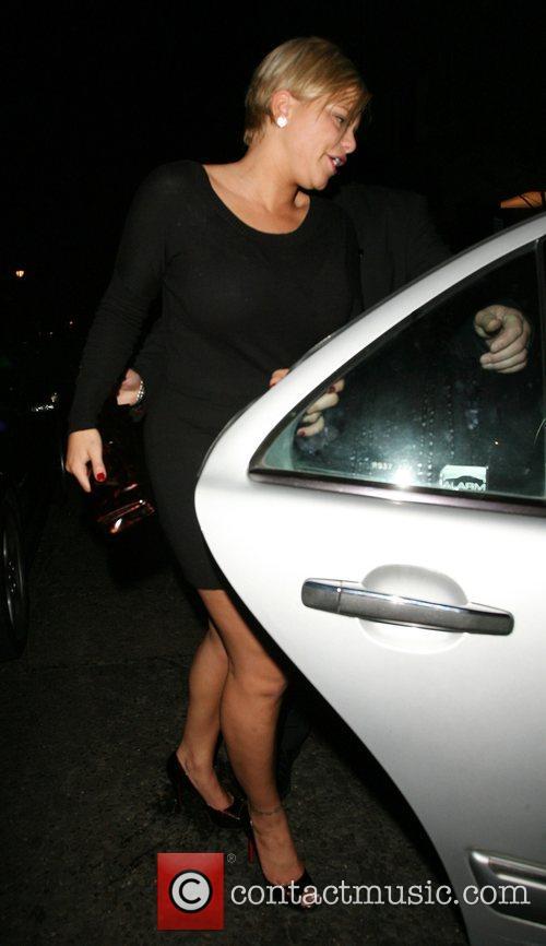 Jade Goody leaving the Embassy Club London, England